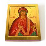 Праведная Нонна Назианзская, диакониса, икона на доске 13*16,5 см - Иконы