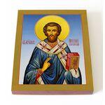 Святитель Арсений, архиепископ Керкирский, икона на доске 13*16,5 см - Иконы