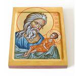 Праведный Симеон Богоприимец, печать на доске 13*16,5 см - Иконы