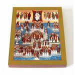 Собор Британских и Ирландских святых, икона на доске 13*16,5 см - Иконы