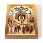 Собор Брянских святых, икона на доске 13*16,5 см - Иконы