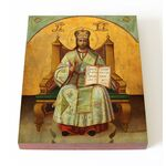 Спас Великий Архиерей, печать на доске 13*16,5 см - Иконы