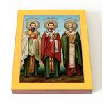 Собор трех святителей, доска 13*16,5 см - Иконы