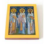 Собор трех святителей, на доске 13*16,5 см - Иконы
