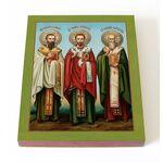 Собор трех святителей, печать 13*16,5 см - Иконы