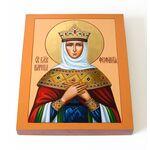 Блаженная Феофания Византийская, императрица, икона на доске 13х16,5см - Иконы