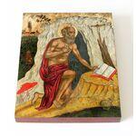 Преподобный Иероним Блаженный, Стридонский, икона на доске 13*16,5 см - Иконы
