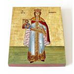 Праведная Феодора, царица Греческая, икона на доске 13х16,5 см - Иконы