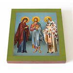 Святитель Афанасий Великий, икона на доске 14,5*16,5 см - Иконы