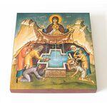"""Икона Божией Матери """"Живоносный Источник"""", печать на доске 14,5*16,5см - Иконы"""