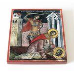 Священномученик Симеон Ктезифонтский, Персидский, икона на доске 14,5*16,5 см - Иконы