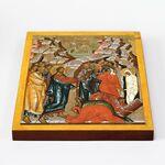 Воскрешение Лазаря, икона на доске 20*25 см - Иконы
