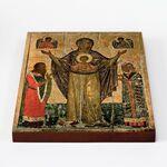 Мирожская икона Божией Матери, печать на доске 20*25 см - Иконы