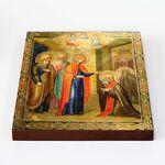 Явление Пресвятой Богородицы Сергию Радонежскому, доска 20*25 см - Иконы
