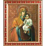 Казанская Песчанская икона Божией Матери, рамка с узором 19*22,5 см - Иконы