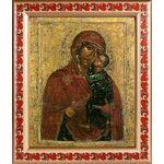 Толгская икона Божией Матери, 1314 г, рамка с узором 19*22,5 см - Иконы