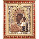 Казанская Ярославская икона Божией Матери, рамка с узором 19*22,5 см - Иконы