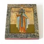 Преподобный Александр Ошевенский, икона на доске 8*10 см - Иконы