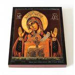Никейская икона Божией Матери, печать на доске 8*10 см - Иконы