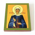 Праведная Нонна Назианзская, диакониса, икона на доске 8*10 см - Иконы