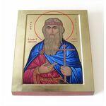 Святой Олаф II Харальдссон, король Норвегии, икона на доске 8*10 см - Иконы