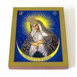 Икона Божией Матери Остробрамская Виленская, доска 8*10 см - Иконы
