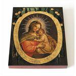 Пожайская икона Божией Матери, печать на доске 8*10 см - Иконы