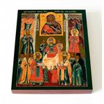 Положение Честной ризы Пресвятой Богородицы во Влахерне, 8*10 см - Иконы