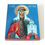 Равноапостольная княгиня Ольга, икона на доске 8*10 см - Иконы