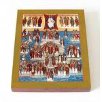 Собор Британских и Ирландских святых, икона на доске 8*10 см - Иконы