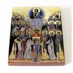 Собор Кольских святых, икона на доске  8*10 см - Иконы