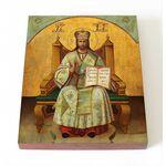 Спас Великий Архиерей, печать на доске  8*10 см - Иконы