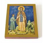Преподобная Феодора Александрийская Младшая, икона на доске 8*10 см - Иконы