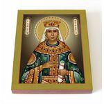 Блаженная Феофания Византийская, императрица, икона на доске 8*10 см - Иконы