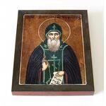 Преподобный Антоний Черноезерский, икона на доске 8*10 см - Иконы