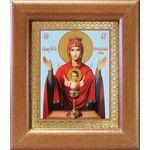 """Икона Божией Матери """"Неупиваемая Чаша"""", широкая рамка 14,5*16,5 см - Иконы"""