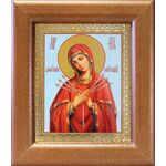 """Икона Божией Матери """"Умягчение злых сердец"""", широкая рамка 14,5*16,5см - Иконы"""