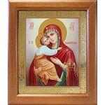 Владимирская икона Божией Матери, широкая рамка 19*22,5 см - Иконы