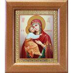 Владимирская икона Божией Матери, широкая рамка 14,5*16,5 см - Иконы