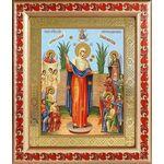 """Икона Божией Матери """"Всех скорбящих Радость"""" с грошиками, 19*22,5 см - Иконы"""