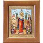 """Икона Божией Матери """"Всех скорбящих Радость"""" с грошиками, 14,5*16,5 - Иконы"""