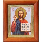Спас Вседержитель в красном облачении, икона в рамке 8*9,5 см - Иконы