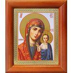 Казанская икона Божией Матери в красном облачении, рамка 8*9,5 см - Иконы
