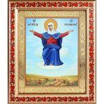 """Икона Божией Матери """"Спорительница хлебов"""", рамка с узором 19*22,5 см - Иконы"""
