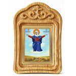 """Икона Божией Матери """"Спорительница хлебов"""", резная деревянная рамка - Иконы"""