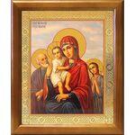 """Икона Божией Матери """"Трех Радостей"""", деревянная рамка 17,5*20,5 см - Иконы"""
