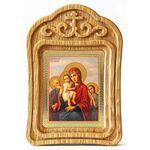 """Икона Божией Матери """"Трех Радостей"""", резная деревянная рамка - Иконы"""