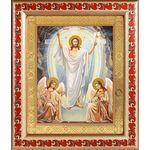 Воскресение Христово, икона в рамке с узором 19*22,5 см - Иконы