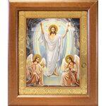 Воскресение Христово, икона в широкой рамке 19*22,5 см - Иконы