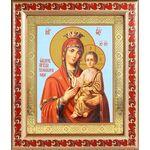 """Икона Божией Матери """"Скоропослушница"""", рамка с узором 19*22,5 см - Иконы"""
